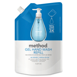 Method® Gel Hand Wash Soap, Sea Minerals Scent, 33.8 Oz Bottle