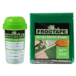 Duck Brand FrogTape Paint Storage/Touch Up Cup And Drop Cloths, Green