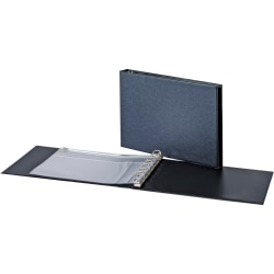 """Cardinal® Standard Business Check 7-Ring Binder, 1"""" D-Rings, Recycled, Black"""