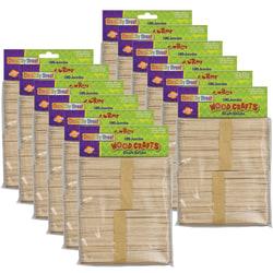 "Creativity Street Jumbo Craft Sticks, 6"" x 3/4"", Natural Wood, 100 Sticks Per Pack, Pack Of 12 Packs"