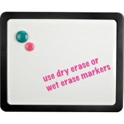 "Lorell® Magnetic Dry-Erase Board, 15 14/16"" x 12 14/16"", White/Black"