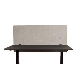 "Luxor RECLAIM Acoustic Privacy Desk Panels, 48""W, Misty Gray"