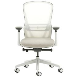 Allermuir Ousby Ergonomic Fabric Mid-Back Task Chair, Light Gray/Pebble/Snow