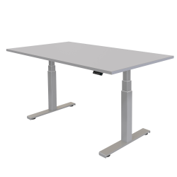 """Fellowes® Cambio Height-Adjustable Desk, 60""""W, Gray"""