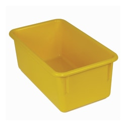 """Stowaway® Storage Container, No Lid, 5 1/2""""H x 8""""W x 13 1/2""""D, Yellow, Pack Of 5"""