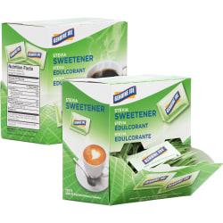 Genuine Joe Stevia Natural Sweetener Packets - PacketStevia Flavor - Natural Sweetener - 400/Carton