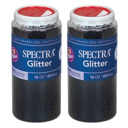 Pacon® Spectra Glitter, 1 Lb, Black, Pack Of 2 Jars