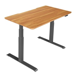 "Vari Electric Standing Desk, 60""W, Butcher Block"