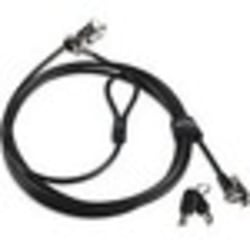 Lenovo Kensington MicroSaver 2.0 Twin Cable Lock - Carbon Steel - 8 ft - For Notebook, Desktop Computer, Monitor