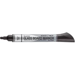 Quartet® Premium Glass Board Dry-Erase Markers, Bullet Tip, Black, Pack Of 12