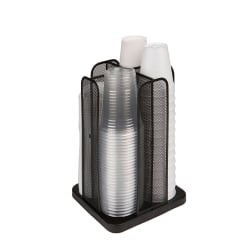 Mind Reader Cup and Lid Carousel Organizer, Black