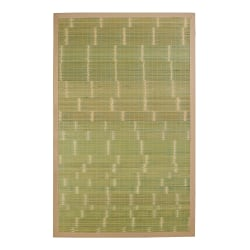 Anji Mountain Key West Bamboo Rug, 2' x 3', Green