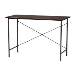 """Baxton Studio 44""""W Industrial Writing Desk, Espresso"""