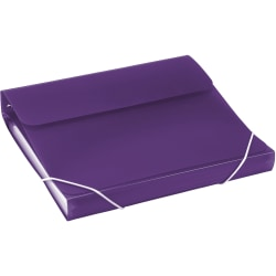 "Samsill® Duo 2-In-1 Poly 7-Pocket Organizer/Ring 3-Ring Binder, 1"" Round Rings, Purple"