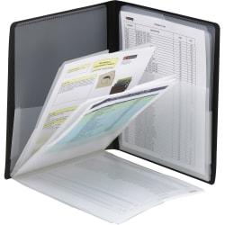 "Smead Organized Up Letter Organizer Folder - 8 1/2"" x 11"" - 50 Sheet Capacity - 8 Pocket(s) - Polypropylene - Black - 1 Each"