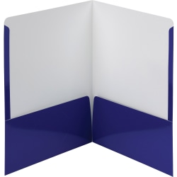 "Smead Letter Pocket Folder - 8 1/2"" x 11"" - 2 Pocket(s) - Navy - 25 / Box"