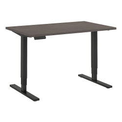 "Bush Business Furniture Move 80 Series 48""W x 30""D Height Adjustable Standing Desk, Cocoa/Black Base, Premium Installation"