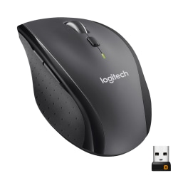 Logitech® M705 Marathon Wireless Mouse, Gray/Black, 910-001935
