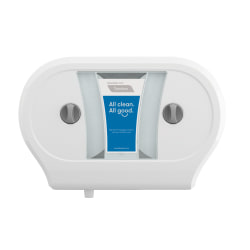 "Tandem® Double JRT Bathroom Tissue Dispenser, 22 3/8""H x 15 5/16""W x 6 1/2""D, White"