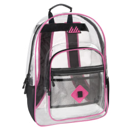 Trailmaker Clear Backpack, Pink