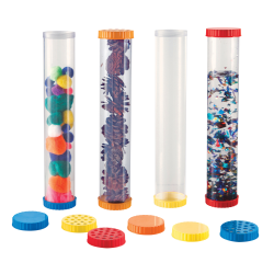 "Learning Resources Primary Science Sensory Tubes, 12"" x 2 1/2"", Pre-K To Grade 9, Pack Of 4 Tubes"