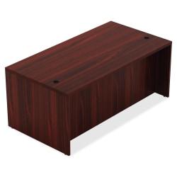 "Lorell® Chateau Series Shell Desk, 60""W x 30""D, Mahogany"