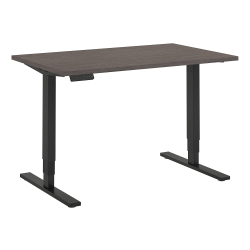 """Bush Business Furniture Move 80 Series 48""""W x 30""""D Height Adjustable Standing Desk, Cocoa/Black Base, Standard Delivery"""