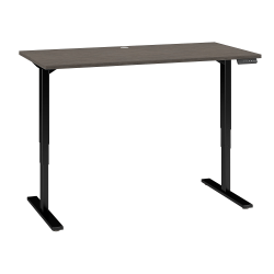"Bush Business Furniture Move 80 Series 60""W x 30""D Height Adjustable Standing Desk, Cocoa/Black Base, Standard Delivery"