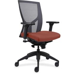 Lorell® Mesh High-Back Chair, Orange/Black