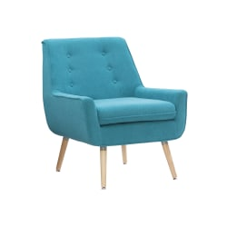 Linon Guthrie Accent Chair, Bright Blue/Natural