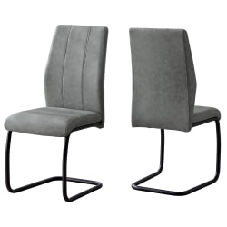 Monarch Specialties Sebastian Dining Chairs, Gray/Black, Set Of 2 Chairs