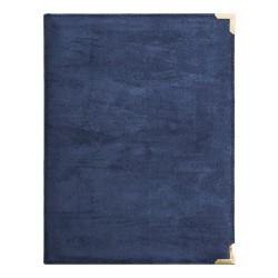 U Brands Blue Suede Padfolio with Porous Pen