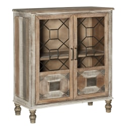 """Powell® Home Fashions Scrofano 2-Door Cabinet, 36-3/8""""H x 31-1/4""""W x 15-3/8""""D, Distressed Brown"""