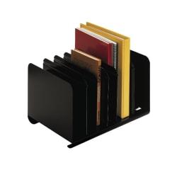 STEELMASTER® Adjustable Steel Book Rack, Black