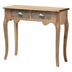 "Baxton Studio French Provincial Console Table, 29-15/16""H x 34-11/16""W x 13-5/8""D, Natural Brown"
