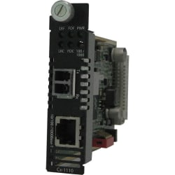 Perle C-1110-M2LC2 Media Converter - 1 x Network (RJ-45) - 1 x LC Ports - DuplexLC Port - 10/100/1000Base-T, 1000Base-LX - Internal