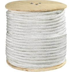 "Office Depot® Brand Double-Braided Nylon Rope, 6,500 Lb, 1/2"" x 600', White"