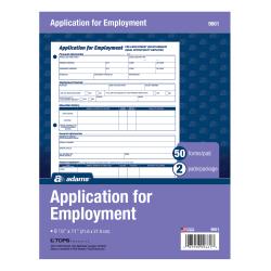 Adams® Bilingual Employee Application, English/Spanish