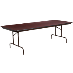 "Flash Furniture High-Pressure Folding Banquet Table, 30""H x 36""W x 96""D, Mahogany"