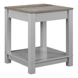 Ameriwood™ Home Carver End Table, Square, Weathered Oak/Gray