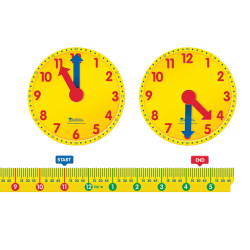 Learning Resources Magnetic Elapsed Time Set, Pre-K To Grade 2