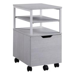 "Office Star™ Contempo 20""D Vertical Mobile File Cart, White Oak"