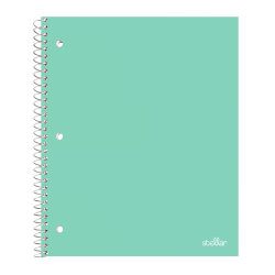 "Office Depot® Brand Stellar Poly Notebook, 8 1/2"" x 11"", College Ruled, 200 Pages (100 Sheets), Mint"