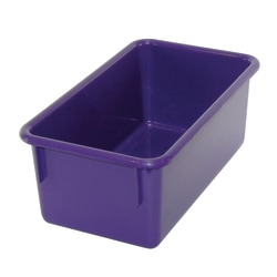 Stowaway® Tray Without Lid, Medium Size, Purple, Pack Of 5