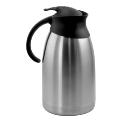 MegaChef 2-Liter Elongated Spout Thermal Beverage Carafe, Silver