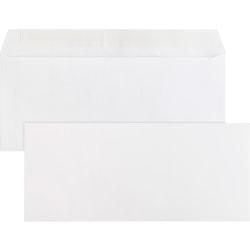 "Business Source Plain Peel/Seal Business Envelopes - Business - #10 - 9 1/2"" Width x 4 1/8"" Length - 24 lb - Peel & Seal - Wove - 500 / Box - White"