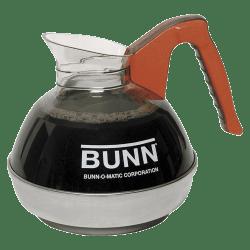 Bunn® Unbreakable 12-Cup Decanter, Decaffeinated, Orange Handle