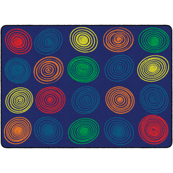 """Flagship Carpets Circles Rug, Rectangle, 6' x 8' 4"""", Primary"""