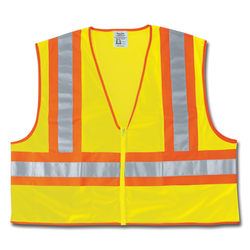 Luminator Class II Safety Vests, 2X-Large, Lime