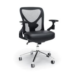 OFM Stratus High-Back Vinyl Seat Chair, Black/Chrome